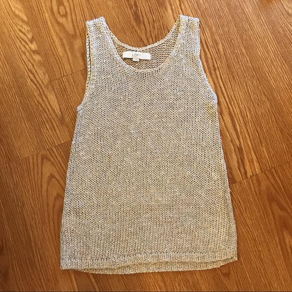 e5bf192c174 LOFT Tops | Ann Taylor Gold Shimmer Sweater Tank S | Poshmark